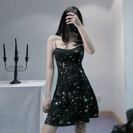 starry strap dress DB5181