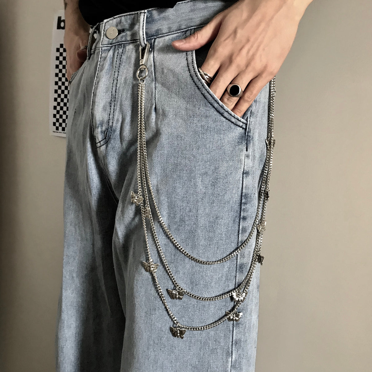 Fashion wild butterfly pants chain    DB5566