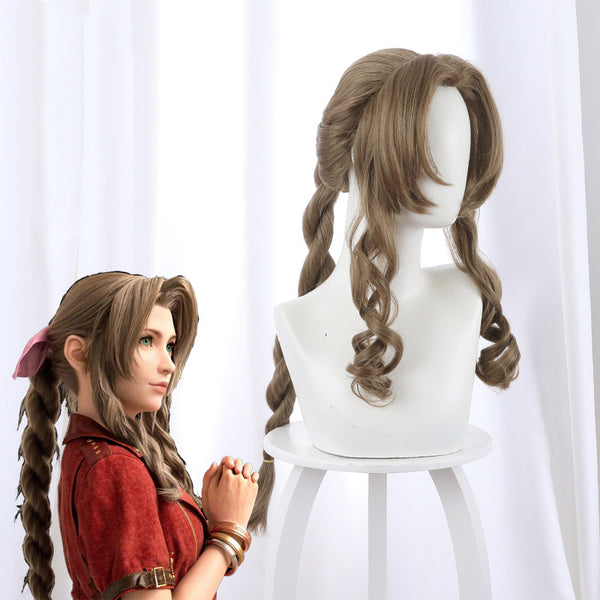 Aerith Gainsborough cos ponytail wig DB5653