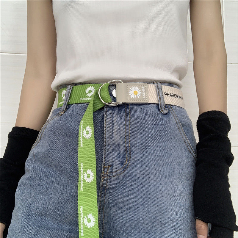Mixed color double loop buckle belt  DB5565