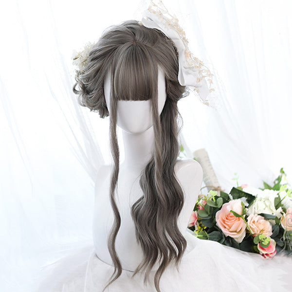 Lolita natural color long curly hair wig DB5465