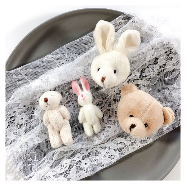 Cartoon plush rabbit, bear brooch DB4881