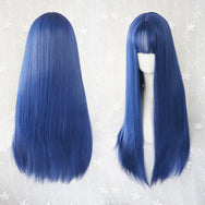 Blue-violet long straight wig DB4104