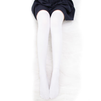 Velvet over knee socks DB4456