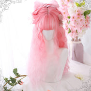 Lolita cherry powder long curly hair wig DB4358