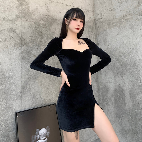 Black sexy dress DB6434