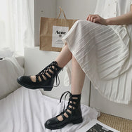 Punk strappy boots DB4058
