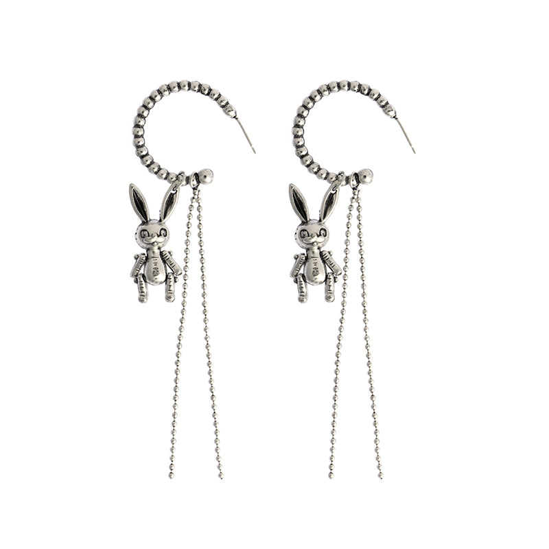 Dark Rabbit Tassel Earrings DB5252