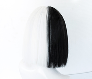 Black and white  wig DB4265