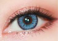 Light blue contact lenses (two pieces) DE1012