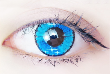 Colorful blue contact lenses (two pieces) DE1070