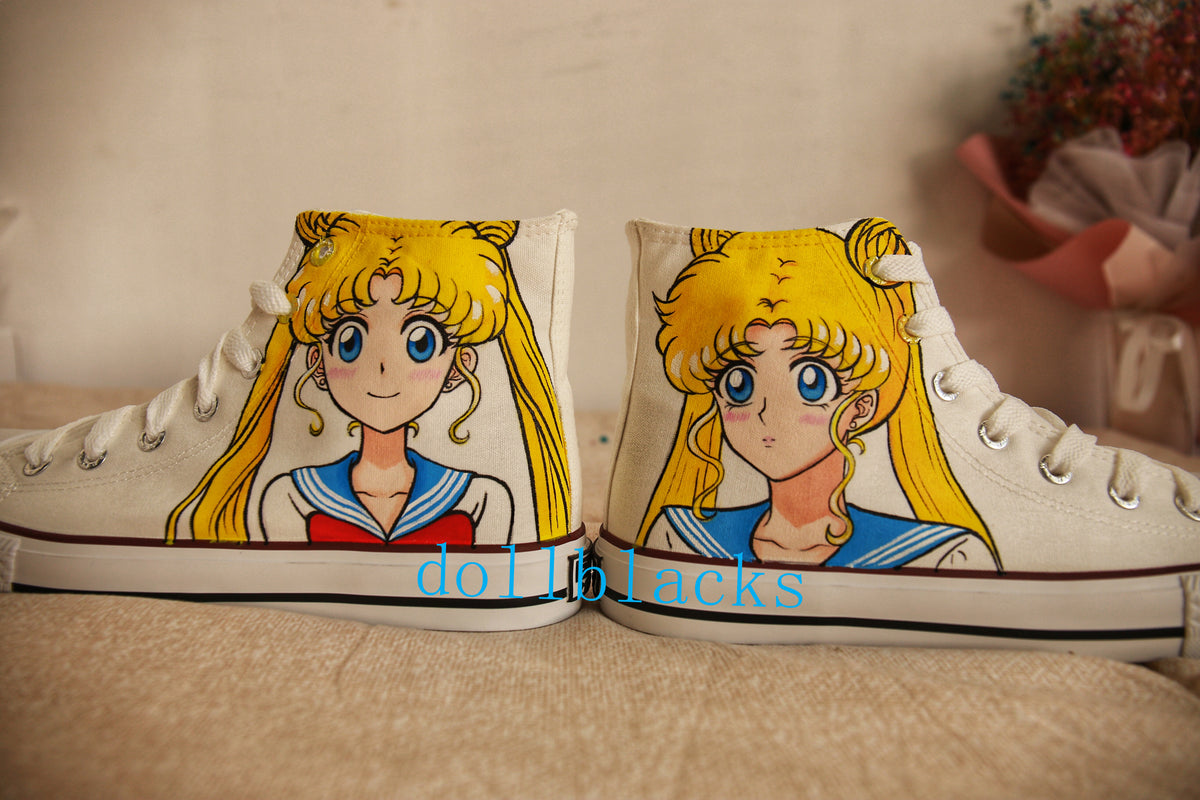 Sailor Moon Hand Painted Shoes  DB4590