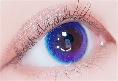 Small half blue contact lens (two pieces) DE1101