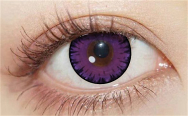 COS ray purple contact lens (two pieces) DE1113
