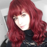 Red big wave long curly hair wig DB4110