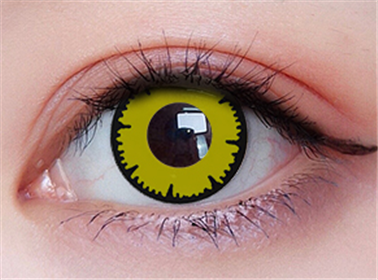 Cos lace yellow contact lens (two pieces) DE1161