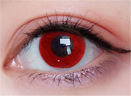 Cos double ring red contact lens (two pieces) DE1166