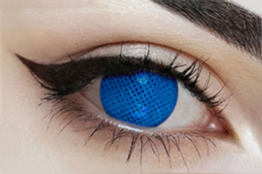 Cos blue mesh contact lens (two pieces) DE1179