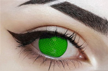 Cos green mesh contact lens (two pieces) DE1177