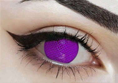 Cos purple mesh contact lens (two pieces) DE1178