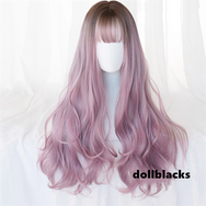 Lolita brown gradient purple pink wig DB4985