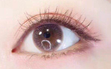 Purple pink contact lenses (two pieces) DE1191