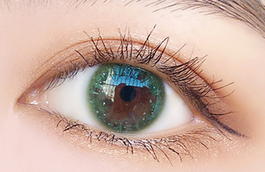 Starry sky green contact lenses (two pieces) DE1197