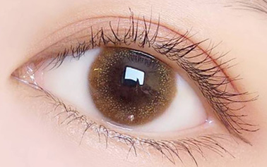cos mermaid brown contact lens (two pieces) DE1195