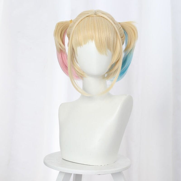 cos Harley Quinn gradient blue / pink ponytail DB5155