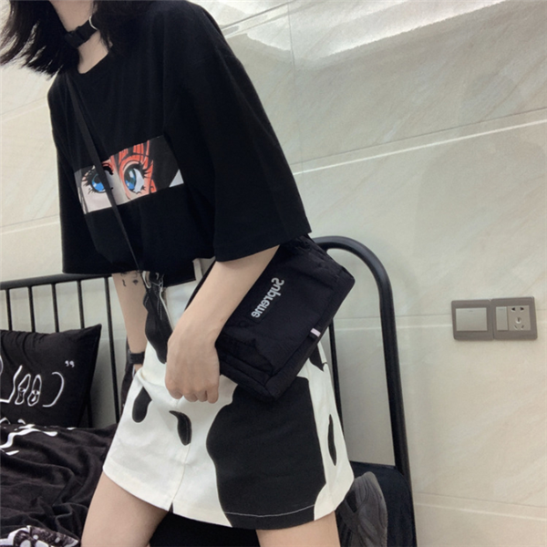 Dark Anime Print Short Sleeve T-Shirt DB5258