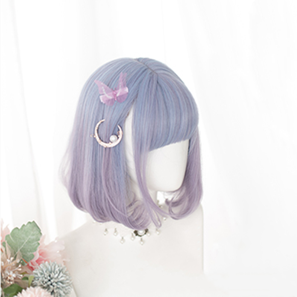 Blue and purple double ponytail wig DB5484