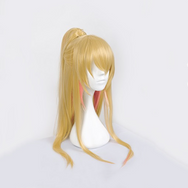 Anime boy cos golden gradient powder ponytail wig DB5519