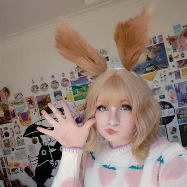 Lolita squirrel ears + milk tea short wig DB5081