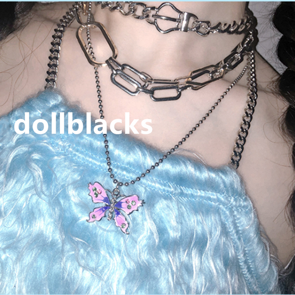 Butterfly pendant necklace DB6460
