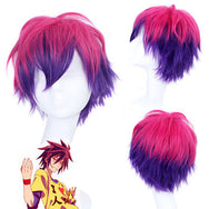 NO GAME NO LIFE cos gradient color wig DB5544