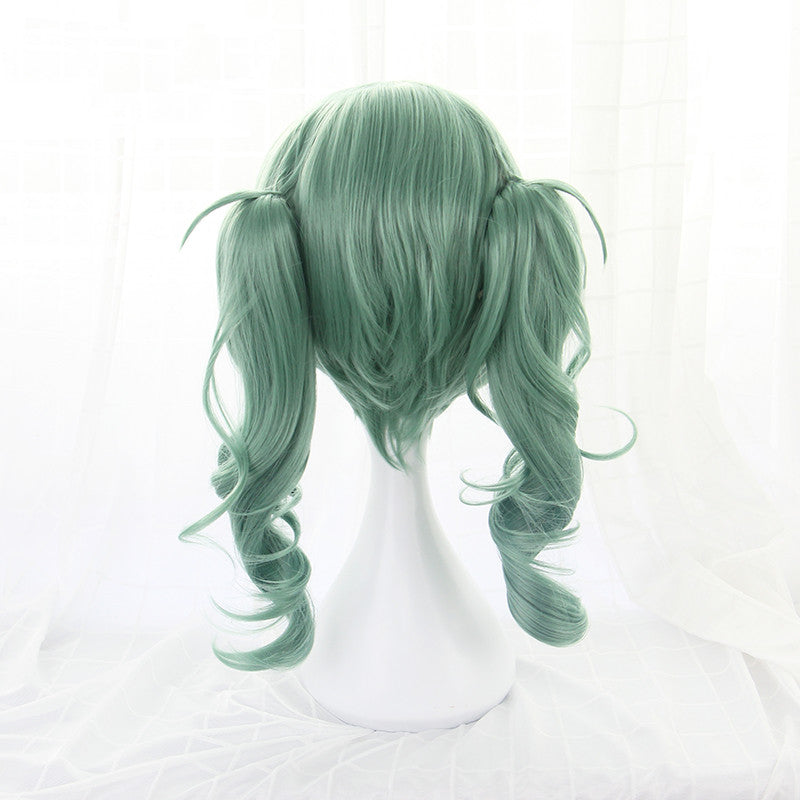 OFFICIAL ALBUM cos green double ponytail wig DB5241