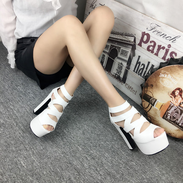Hollow high heels DB3088