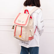 Wing print backpack DB5407