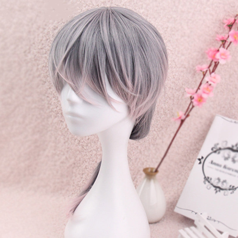 Lolita gray gradient powder wig DB5791