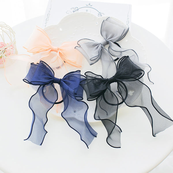 Lolita bow hairpin hair ring DB4479
