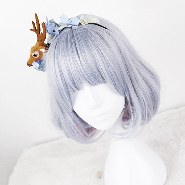 Harajuku blue powder highlights wig DB4887