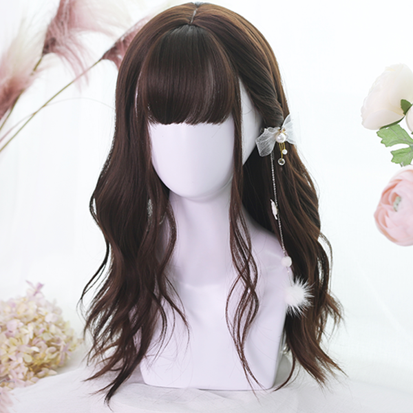 Lolita chocolate long curly hair wig DB5016