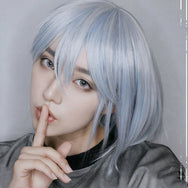 Lolita Harajuku Blue and White Wig DB4842