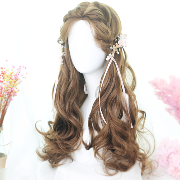 Harajuku Lolita Honey Long Curly Wig DB5023