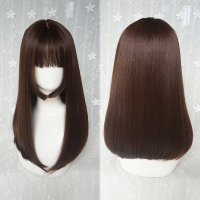 Natural black long wig DB4097