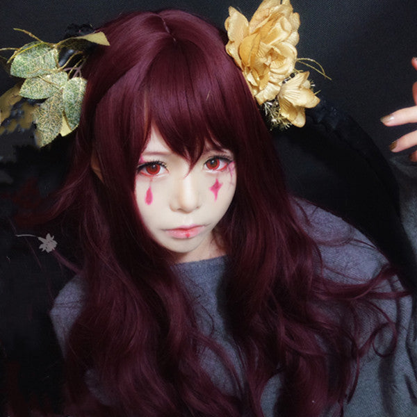Cos gothic clown wine red wig DB4885