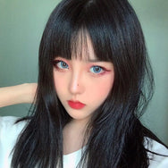 Black long straight wig DB3100