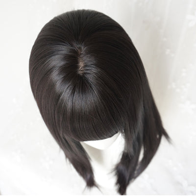 Natural black clavicle long wig DB4108