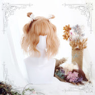 Lolita warm orange curly hair wig DB4726