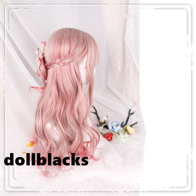 Lolita Sakura Powder Gradient Long Curly Hair Wig DB4821